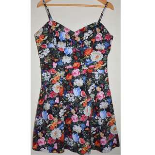 PRINCESS HIGHWAY DANGERFIELD WARM FLORAL ADJUSTABLE STRAP SUN DRESS *NEW* 14
