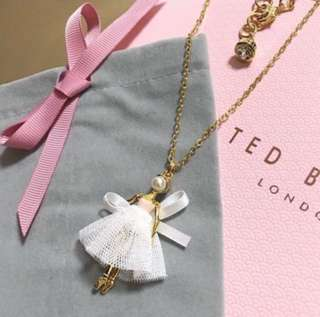 (NEW) Ted Baker Carabel Cream Mini Ballerina Pearl Pendant