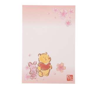 🇯🇵日本代購 迪士尼 Disney 小熊維尼 Winnie the Pooh 櫻花系列🌸 明信片