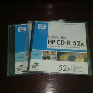 HP LightScribe CD-R 52X Blank Disc Printable Media Storage