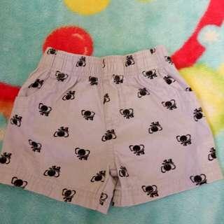 baby shorts 3-6 mos. (gray)