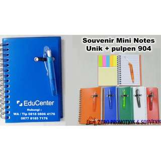 Souvenir Mini Notes yang Unik + pulpen
