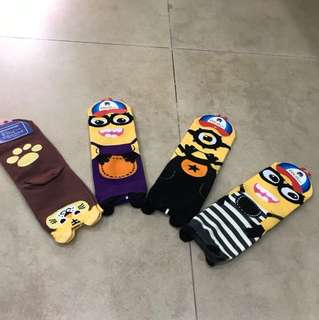 Socks minion & bear set of 4