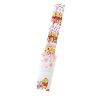 🇯🇵日本代購 迪士尼 Disney 小熊維尼 Winnie the Pooh 櫻花系列🌸 鉛筆 3支裝
