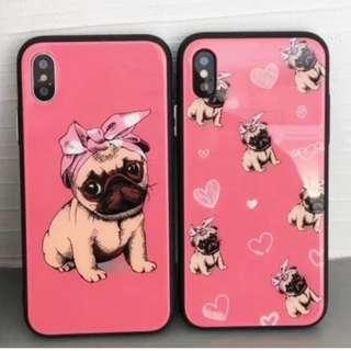 手機殼IPhone6/7/8/plus/X : 可愛Bulldog牛頭犬