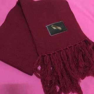 魔戒圍巾 流蘇圍巾 紅色圍巾