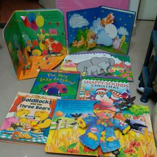 Hard cover pop up books
