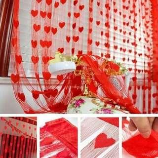 Heart Design Curtain