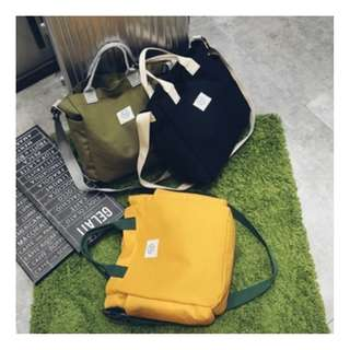 Japanese Fashion solid Color Shoulder Bag / Tas Selempang Warna Solid