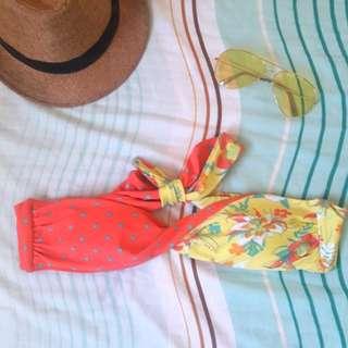 Floral/Dotted Summer Bandeau