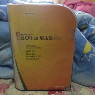 Office 2007家用版連碟連Key
