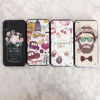 iPhone X Fashion Printed Emboss TPU Case