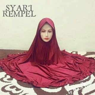 Hijab instan syari rwmpel bawah