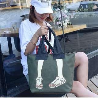 BMT349 - Pants with Sandal Shoulder/Sling Bag *Canvas*