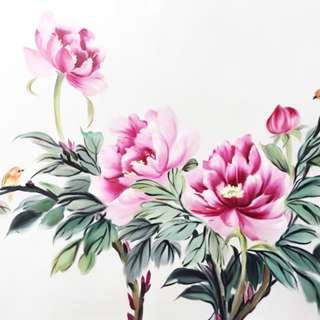 Flower Chinese Oil Painting