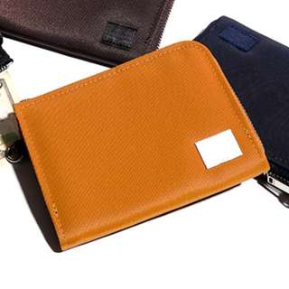 porter尼龍牛皮拉鏈銀包zip wallet真皮錢包leather purse荷包皮夾銅色Bronze