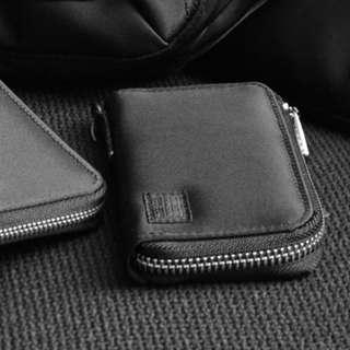 porter尼龍牛皮拉鏈銀包black zip wallet真皮錢包leather purse黑色荷包皮夾