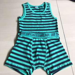 Boys Singlet Set for tall 110-116 cm (3-4 year old)