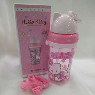 Hello Kitty Water Bottle 370ml with stripe ( instock )