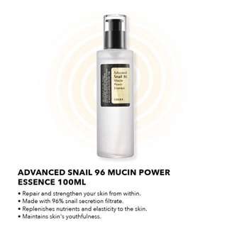 $15.90 [FREE SAMPLE] COSRX Advanced Snail 96 Mucin Power Essence 100ml