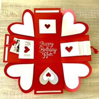 Customized Birthday Box Card