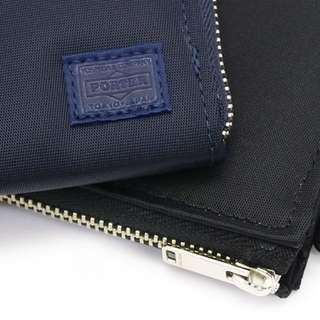 porter尼龍牛皮拉鏈銀包zip wallet真皮錢包leather purse荷包皮夾