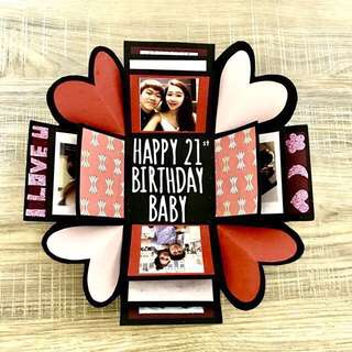 Customized Happy Birthday Box Card