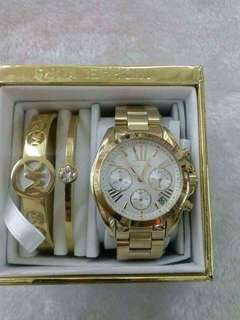 Mk watch set authentic