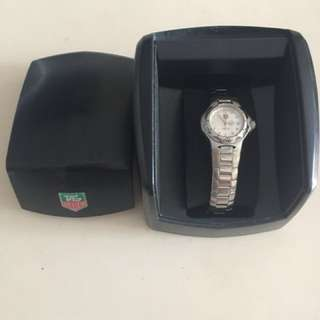 Authentic tag heuer silver plated watch