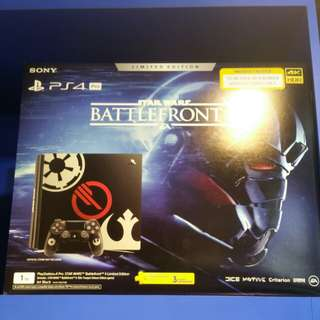 Starwars Battlefront ps4 pro with extra controller