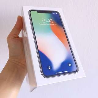 BNIB iPhone X in Silver 256gb by Apple