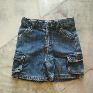 Authentic Oshkosh Short Jeans (1-2 yo)