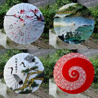 Traditional Hand-Woven Umbrellas
