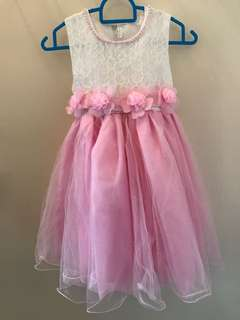 Princess Dress Pink Pear Flower