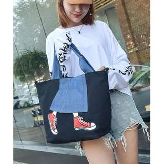 BMT350 - Skirt with Sneaker with Sandal Shoulder/Sling Bag *Canvas*