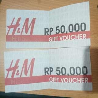 Voucher H& M ( valid hingga 13 dec 2018)