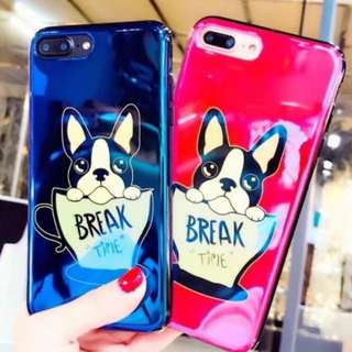 手機殼IPhone6/7/8/plus/X : 可愛杯子Bulldog牛頭犬