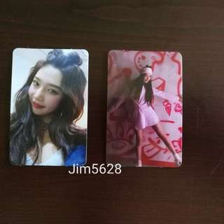 Red Velvet - The Perfect Red Velvet Bad Boy Joy photocard set