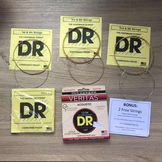 DR Coated Acoustic Guitar Strings