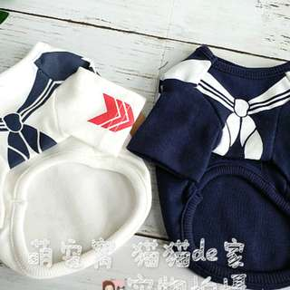 BN Puppy Dog Cat Sailor Navy Costume Clothes