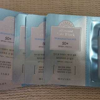 MISSHA All Around Safeblock Waterproof Sun Milk Sachet