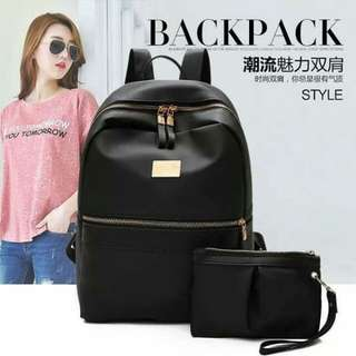 Korean Backpack 2n1 size 32*28cm