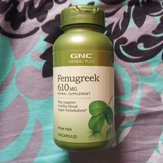 GNC Fenugreek 610mg Herbal Supplement