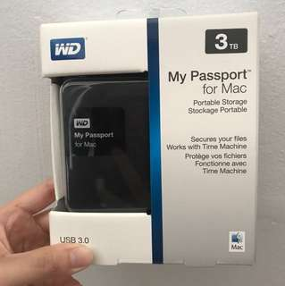 WD My Passport for Mac External USB 3.0 (3 TB) Portable Hard Drive