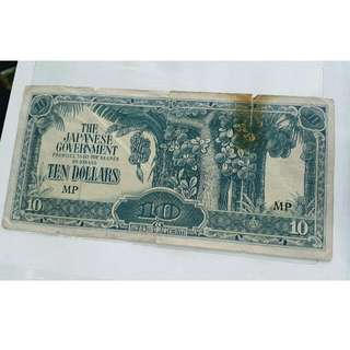 Old Malaya 1940's The Japanese Government Currency Notes