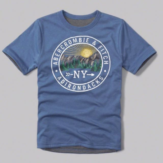 (15/16) Authentic A&F Reversible Logo Graphic Tee