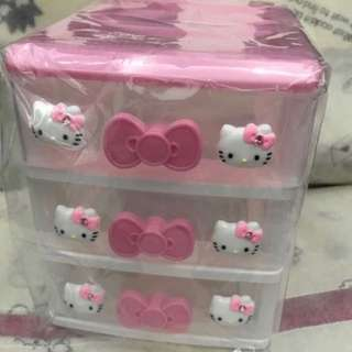 Hello kitty 3 tiers drawer