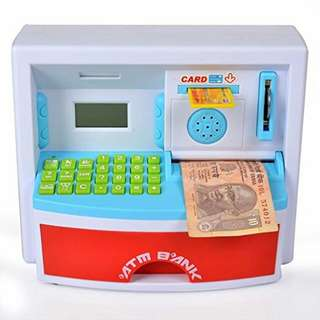 Belong To Children's Own Bank Mini ATM Cash Deposit Machine Money #15OFF