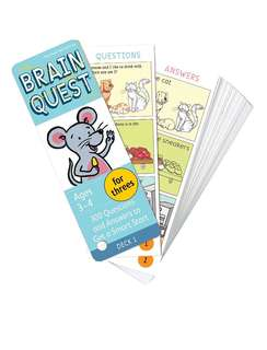 Brain Quest!! New!! Ages 3-4, Deck 1 and Deck 2