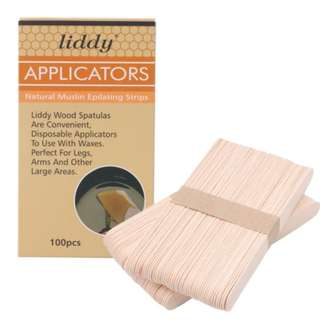100 Pieces Wooden Waxing Spatula/ Tongue Depressor/ Disposable Bamboo Sticks/ Large Ice Cream Sticks/ Craft Project